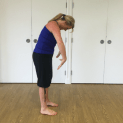 Forward flexion to prevent falls