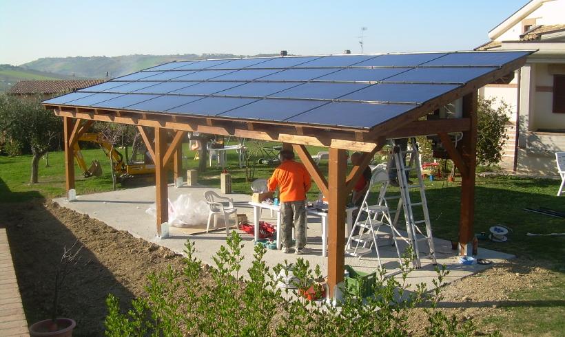 Pensiline e tettoie fotovoltaiche  ICARO srl
