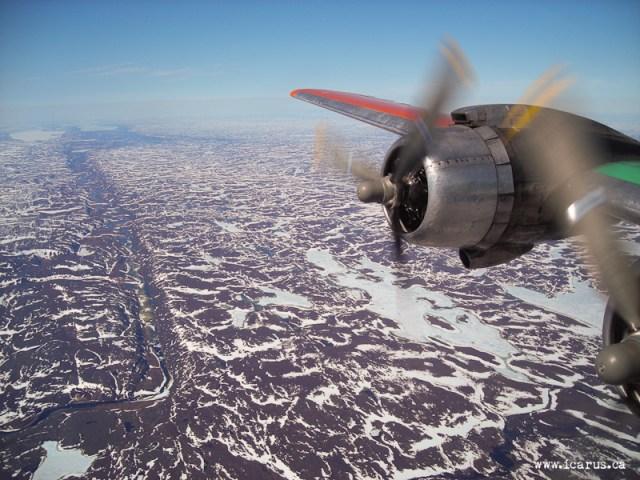 Somewhere over Nunavut