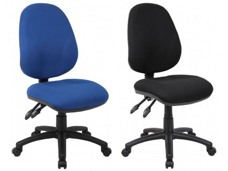 black computer chair baby trend high replacement cover chairs operator icarus office furniture blue