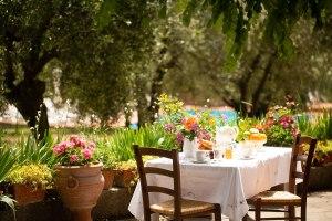 Privater Garten I Casalini Bauernhaus in der Toskana