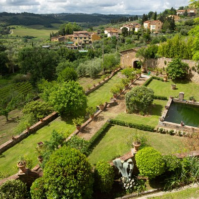 Historical garden I Casalini farmhouse in Tuscany