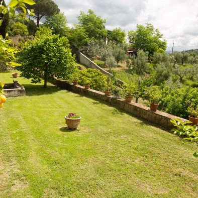 Historic garden I Casalini farmhouse in Tuscany