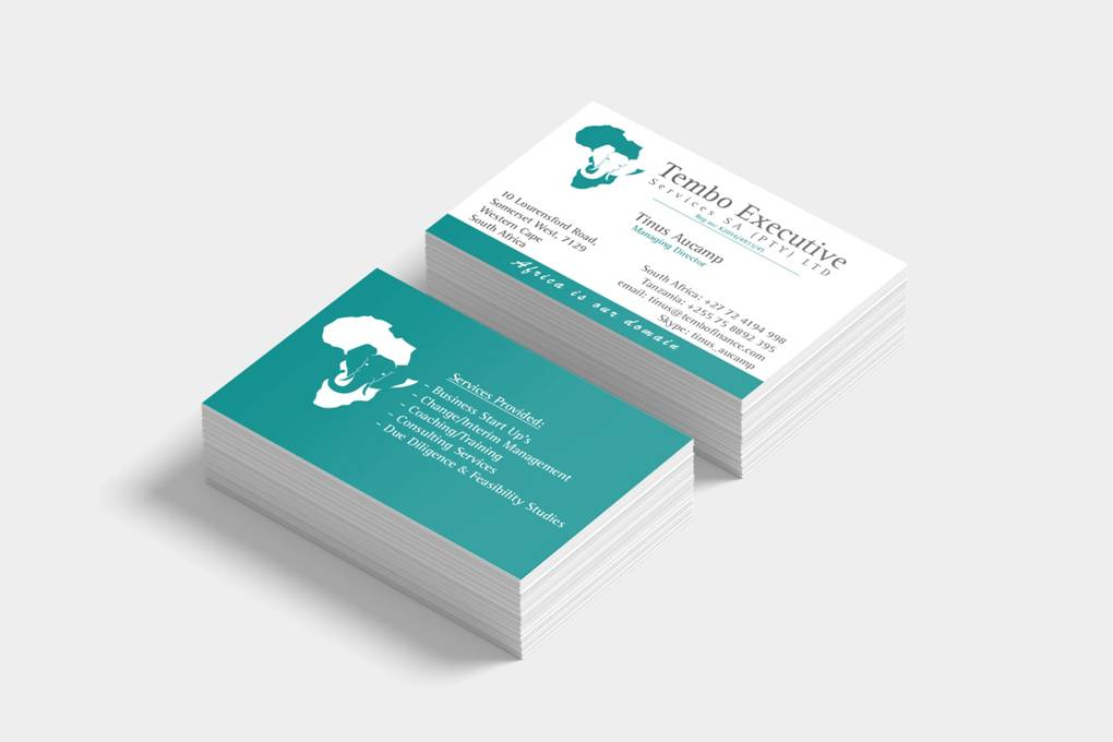 business cards, white, turquoise