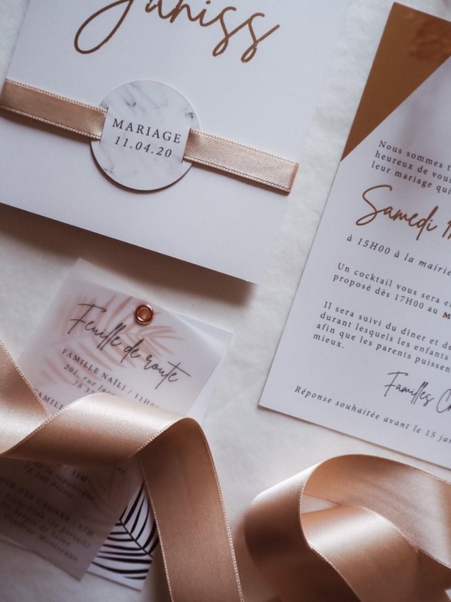 papier calque et ruban satin