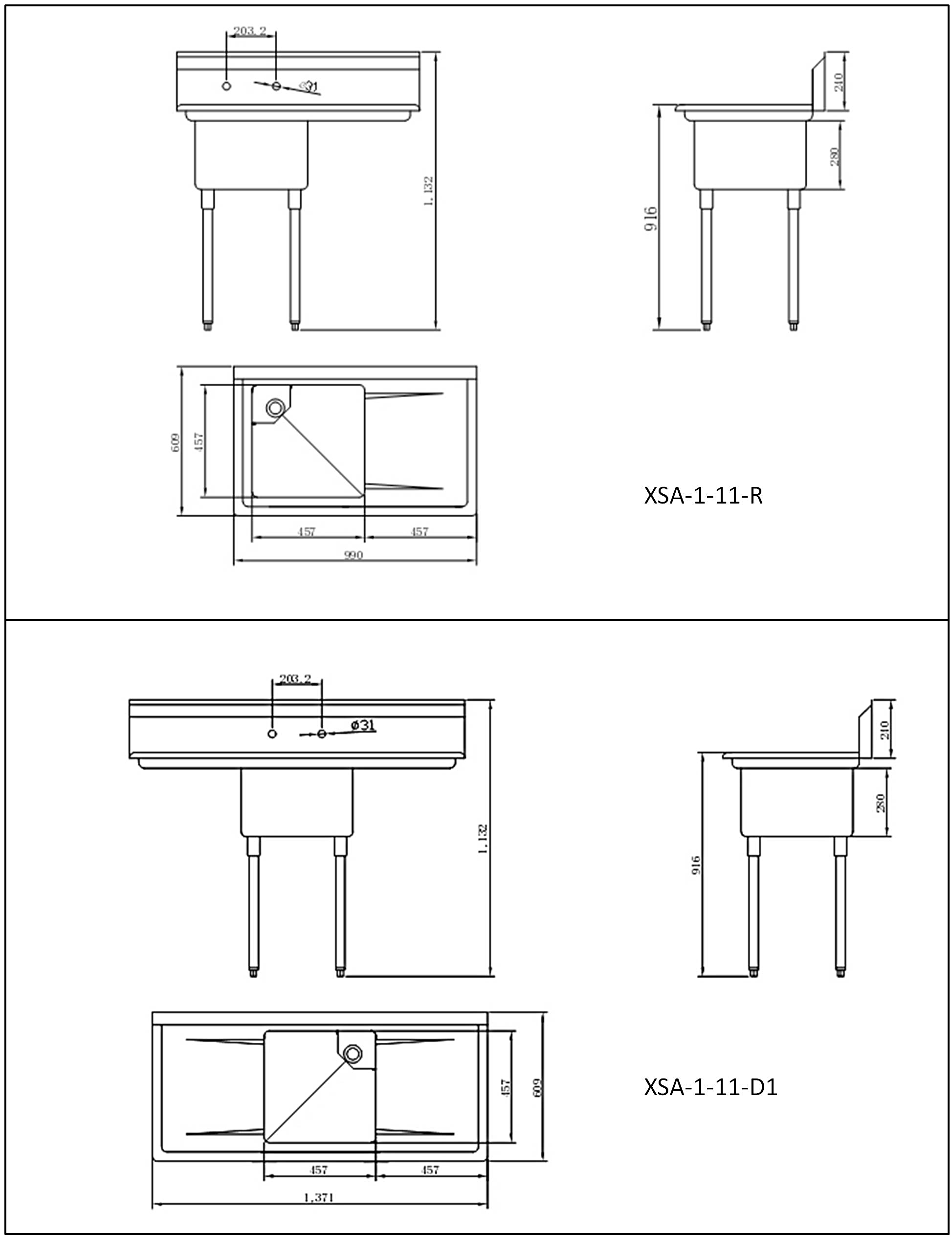 Stainless Steel Sink Drawings