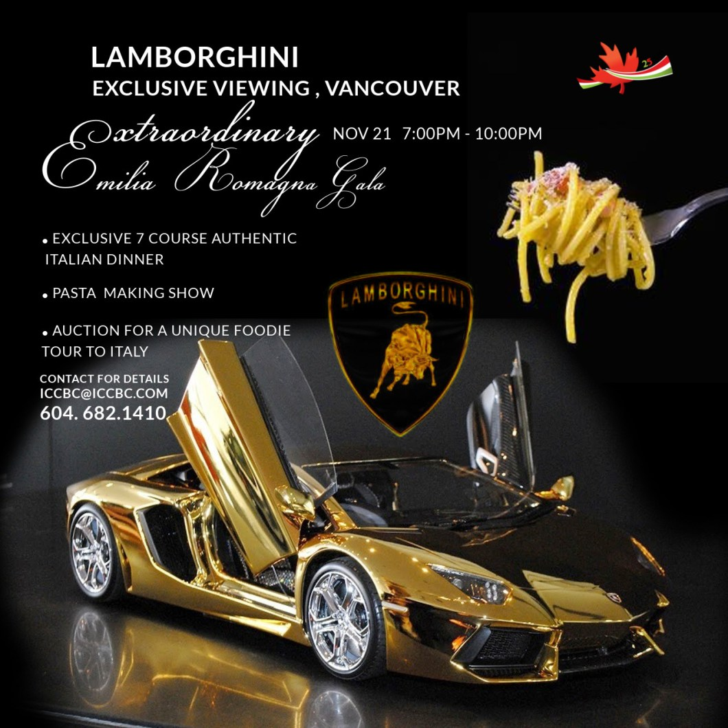 Showcase Dinner Golden Lambo ITALIANCHAMBEROFCOMMERCE ICCBC