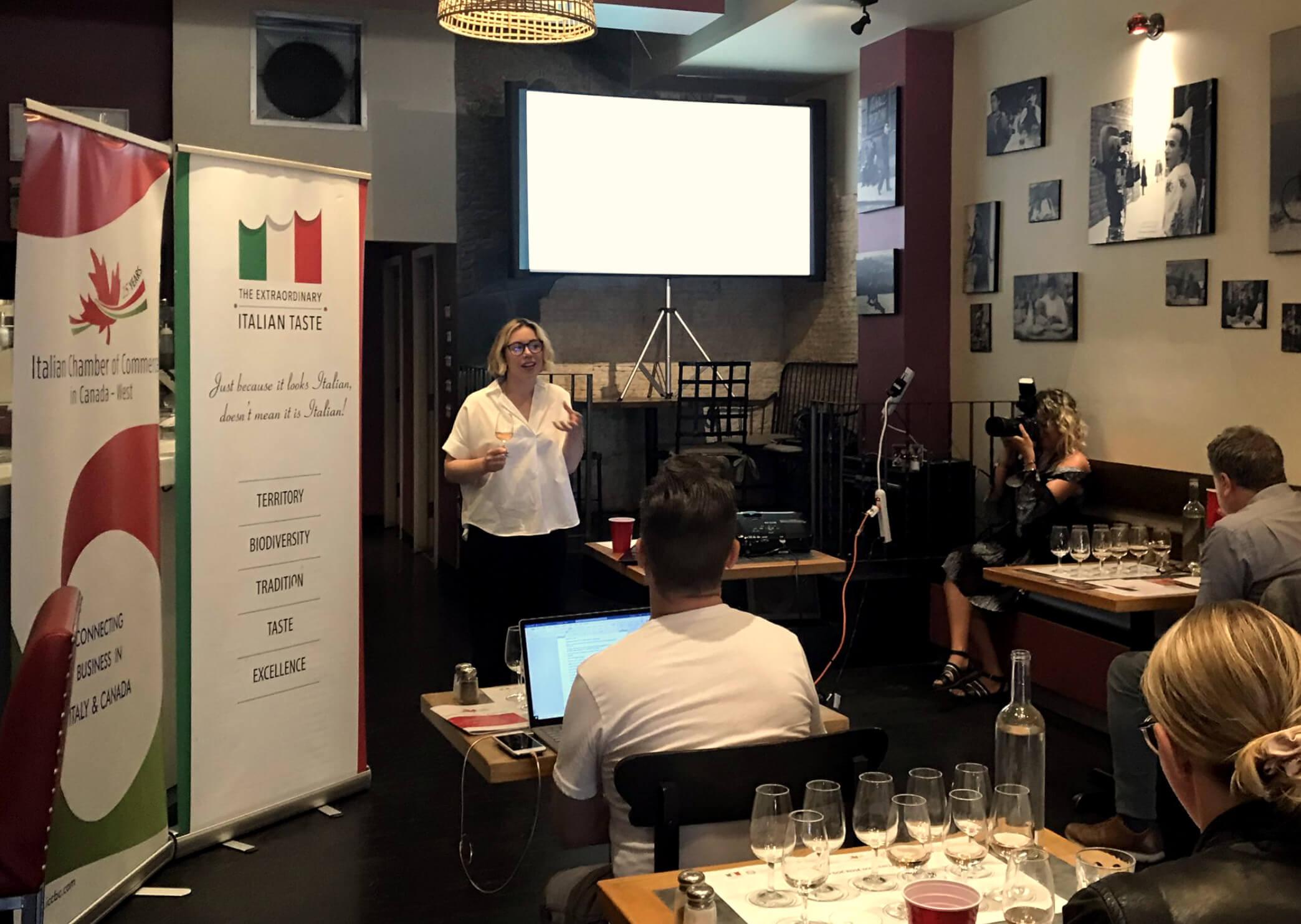 Prosecco DOC Rose Masterclass Vancouver Canada True Italian Taste Sommelier