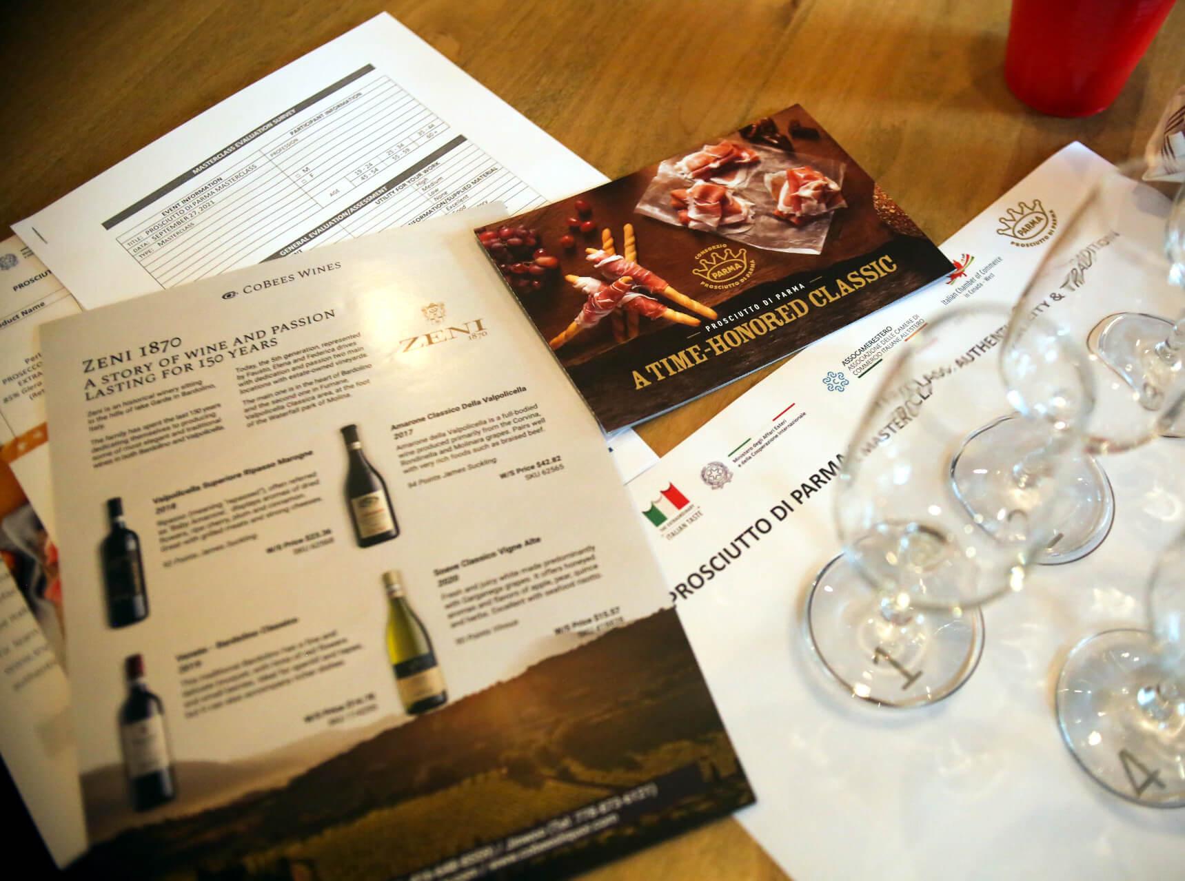 PROSCIUTTO DI PARMA MASTERCLASS 2021 Vancouver Wine Pairing