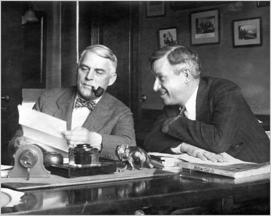 Kin Hubbard and Will Rogers, image from Lilly Library, Indiana University, Bloomington, Indiana