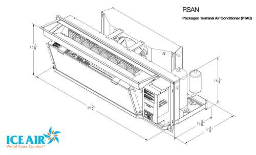 small resolution of rsan dimensional drawing ice air limited warranty ptac replacement chart