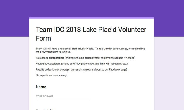Volunteer as a part of Team IDC in Lake Placid