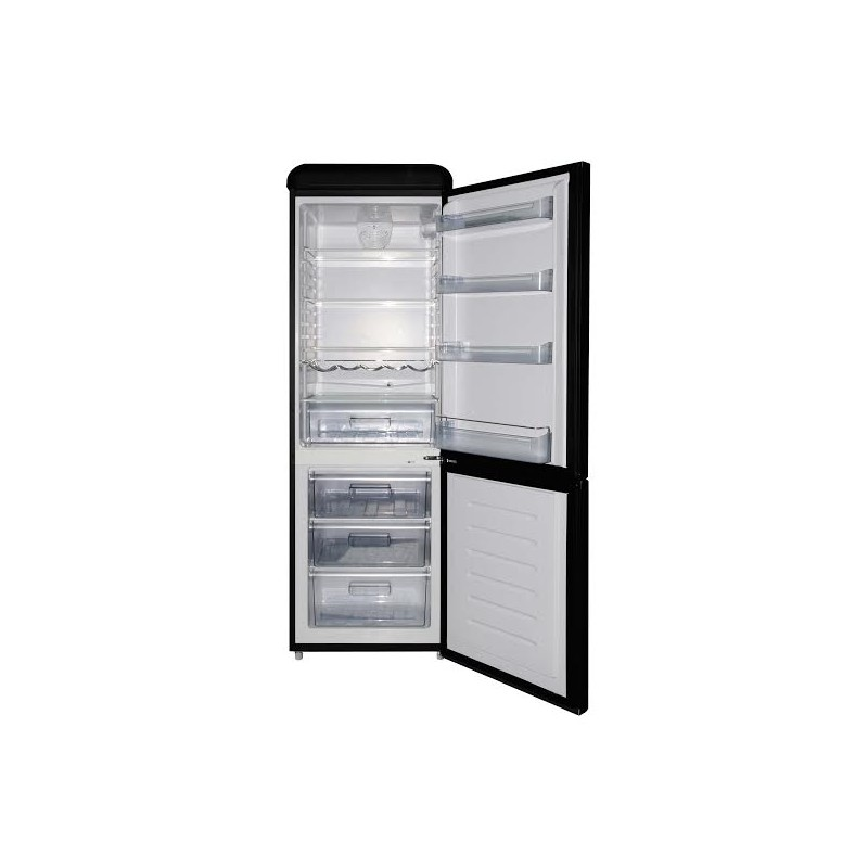 Rfrigrateur frigo positif domestique combin rtro noir mat