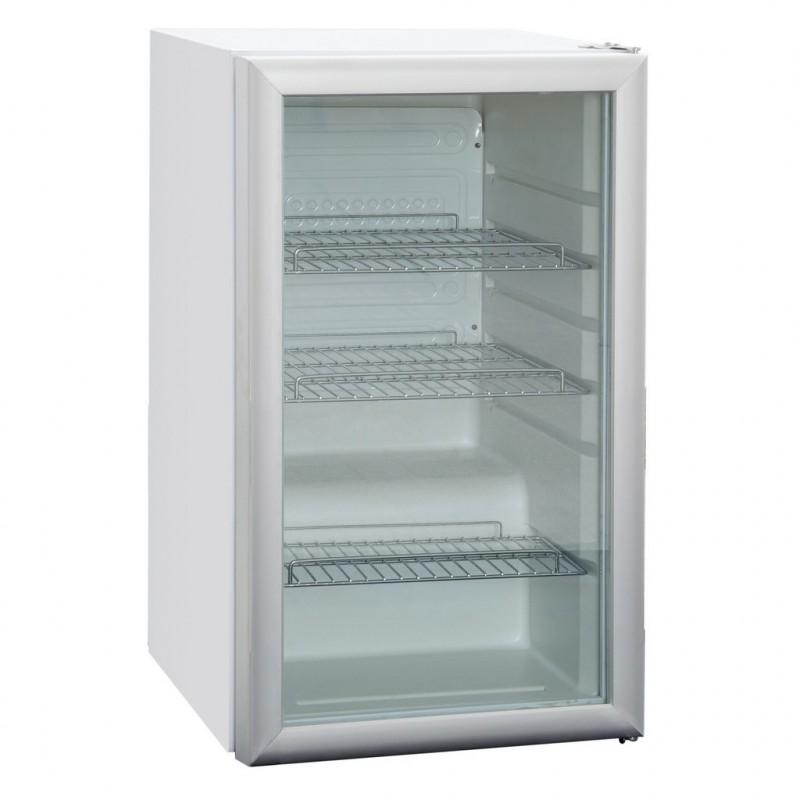 Frigo avec une porte vitre 105 L pour commerce alimentaire