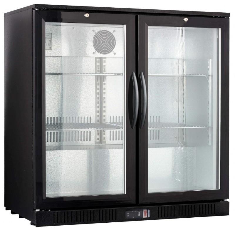 Rfrigrateur vitrine pour arrire de bar avec deux portes vitres
