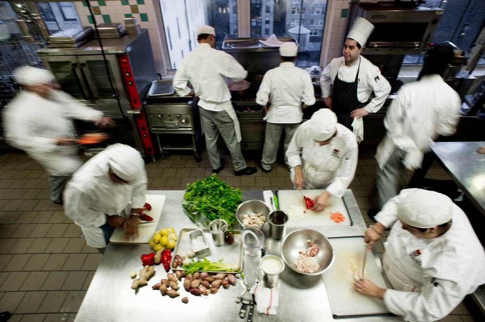 kitchen chief gray floor keeping your cool in the institute of culinary education professional chef brigade