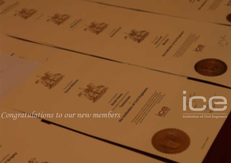 Congratulations to all our newly qualified members institution of civil engineers also rh ice