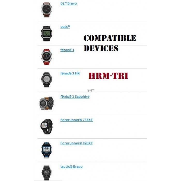 Garmin HRM-Tri Run swim Heart rate monitor phrm soft strap