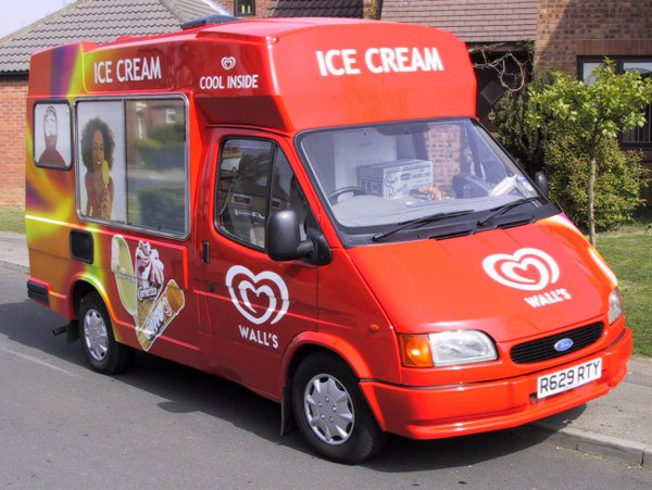 Ice Cream Van Walls Livery