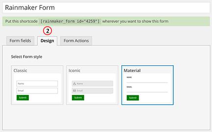 Select form design