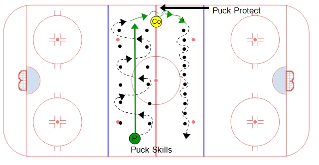 hockey player diagram wiring for light switch australia neutral zone puck skills #1 - stickhandling drill
