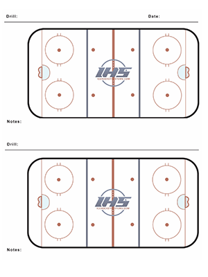 Ice hockey practice sheet with two rinks also free downloads systems inc rh icehockeysystems