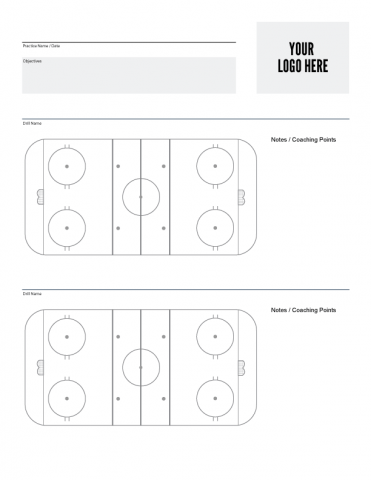 nhl hockey rink diagram printable t1 crossover cable free downloads ice systems inc custom practice sheet