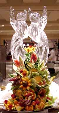 Ice King Creations  Ice Carving Ice Sculpture Fruit