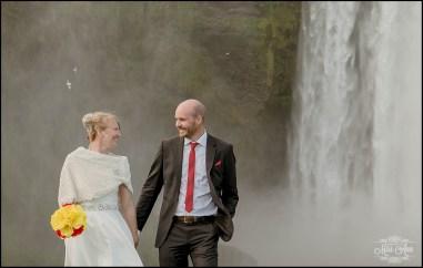 Iceland Wedding Skogafoss Waterfall