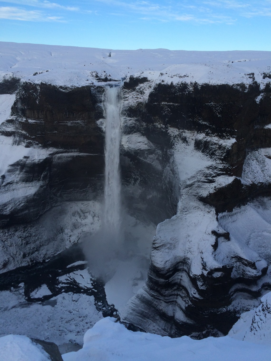 Haifoss in winter - how to get to Haifoss waterfall | Life With a View