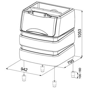 PE530 (240Kg) Ice storage bin