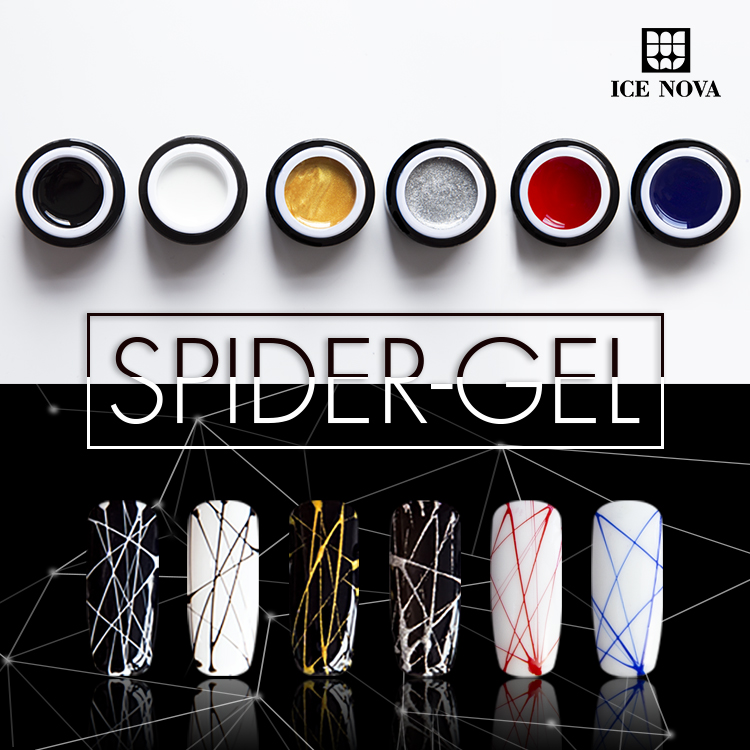 2018 New arrival SpiderGel  Soak Off Gel Nail Polish factory ICE Cosmetic CoLtd