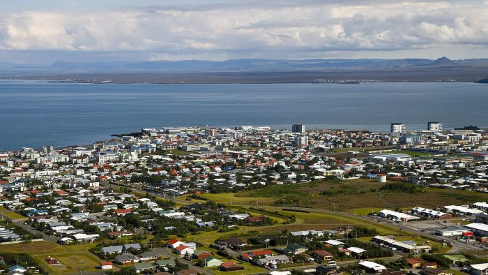 An earthquake rocks the town of Keflavik