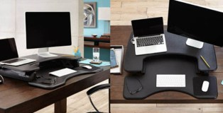 stand, desk, Varidesk, office, sit-standing, VariChair, workspace
