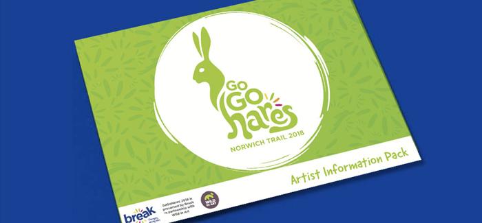 GoGoHares, sculptures, break, charity, norwich, norfolk, hare, brained, artist, packs, designs