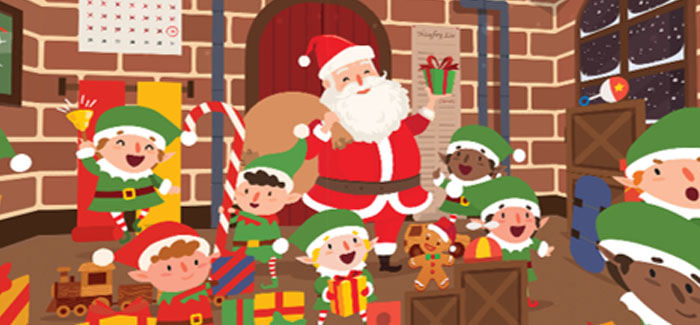 Can you spot the dummy-sucking baby in this Christmas 360-degree puzzle?