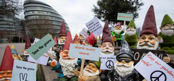 Bikes, plant pots and gnomes are being stolen from British gardens
