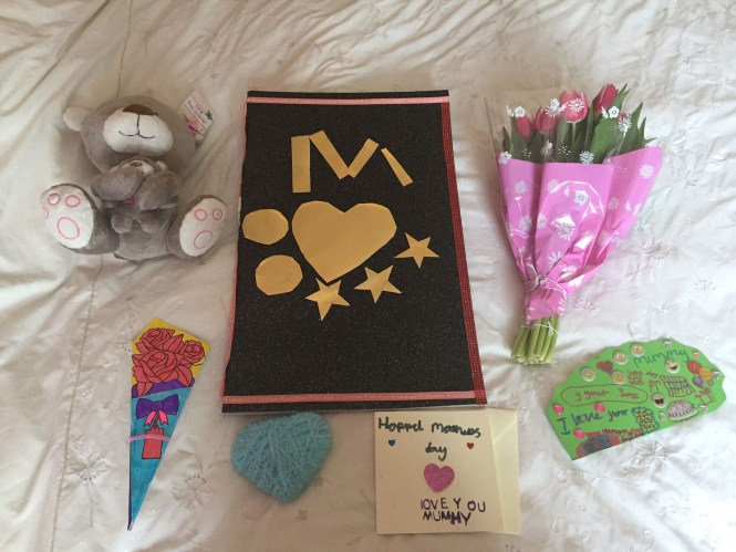 Photo of Louisa's first Mother's Day present from her adopted daughter