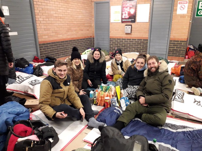 Participants in Norwich Sleep Out 2019