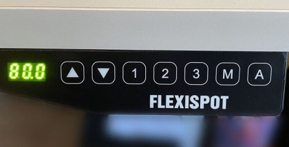 Flexispot electric standing desk control panel