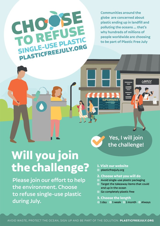 Plastic-Free July poster