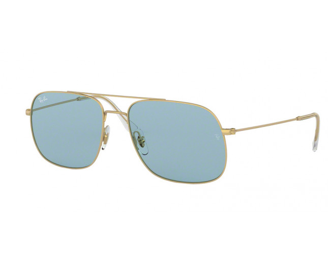 ray ban andrea rb3595 rubber gold light blue