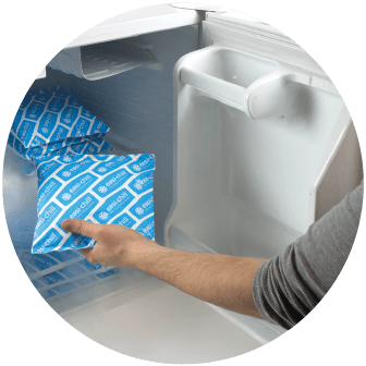 Freeze your coolants before use.  A domestic style freezer will do the job perfectly.