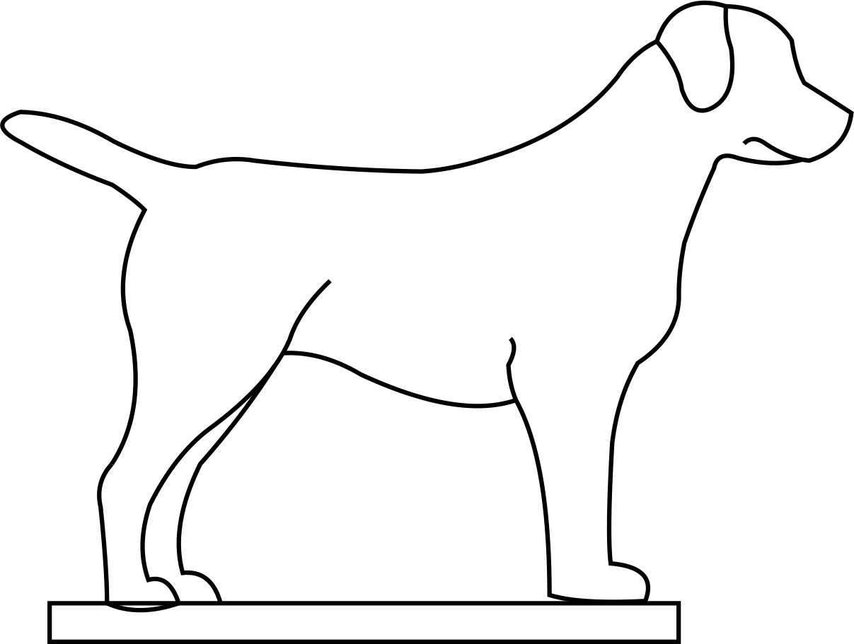 Lab Dog Outline