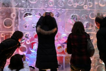 Boston first night ice carving 16