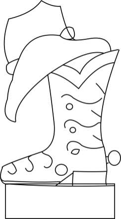 Cowbow boot and hat Template