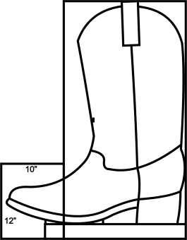 Cowboy Boot Templat