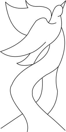 Dove with ribon Template
