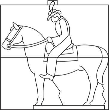 2 block Man on Horse Template