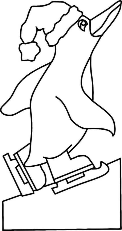 penguin skating Template